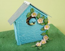'Bird Box Cake' - Another idea using our 'Make a Shed' set.
