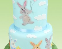 Balloon Bunny - This fun cake has been made with our Bunny Set (clouds from our Countryside Silhouette Set).